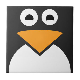 Penguin Face Small Square Tile