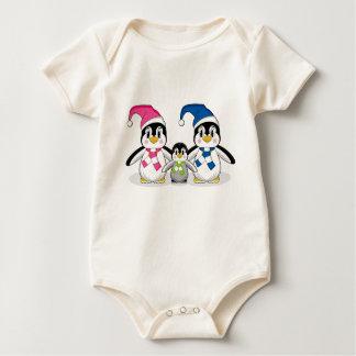 Penguin Family Baby Creeper