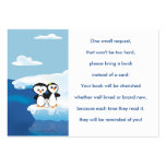Penguin Family Book Request Card Pack Of Chubby Business Cards