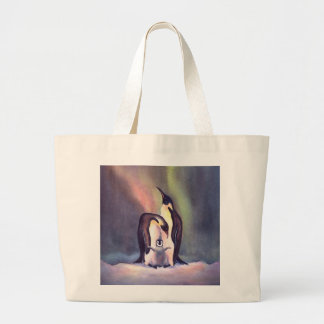 PENGUIN FAMILY by SHARON SHARPE Large Tote Bag