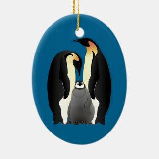 penguin family christmas ornament