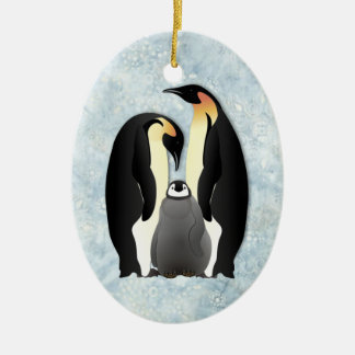 penguin family christmas ornament