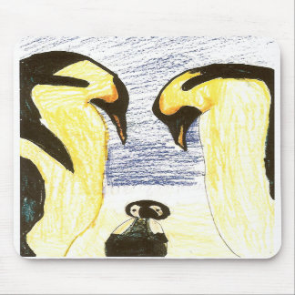 Penguin Family Drawing Mousepad