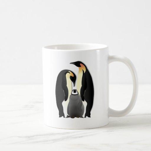 penguin family mug