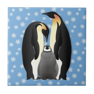 penguin family tile