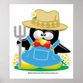 Penguin Farmer Print