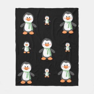 Penguin fleece throw