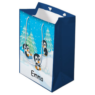 Penguin Fun Christmas Gift Bag