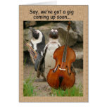 Penguin Gig Invite Greeting Cards