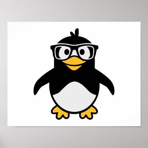 Penguin glasses poster
