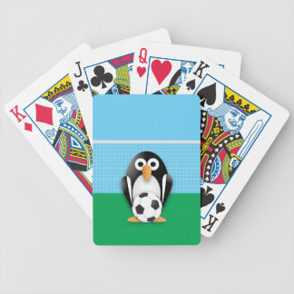 Penguin goalkeeper bicycle playing cards