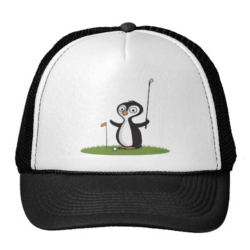 Penguin Golf Mesh Hat