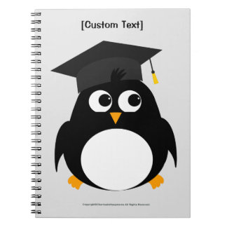 Penguin Graduation Design - Personalised Notebook