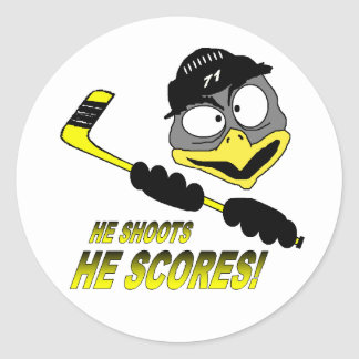 Penguin Hockey Sticker
