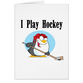 Penguin Hockey Tshirts and Gifts Greeting Card