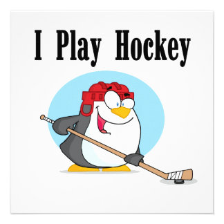 Penguin Hockey Tshirts and Gifts Custom Announcements