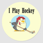 Penguin Hockey Tshirts and Gifts Classic Round Sticker