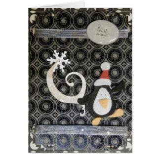 Penguin Holiday Greeting Card