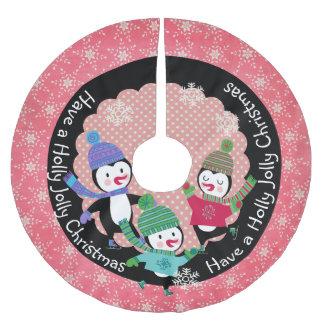 Penguin Holly Jolly Christmas 3 Holiday Tree Skirt