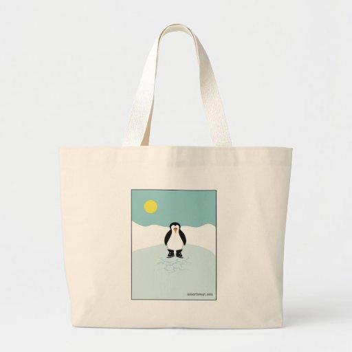 Penguin Ice Skating Canvas Bag