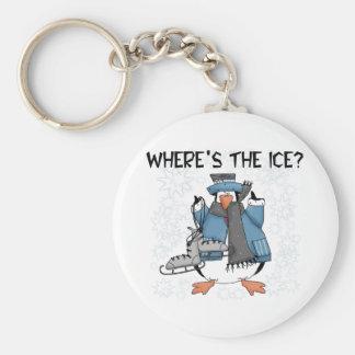 Penguin Ice Skating Key Ring