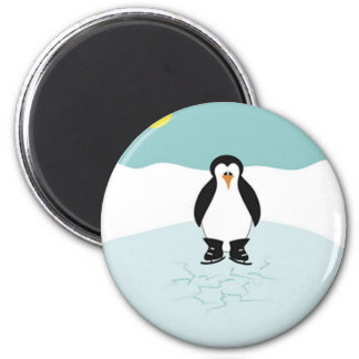Penguin Ice Skating Refrigerator Magnets