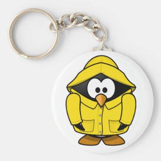 Penguin In A Raincoat Keychain
