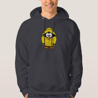 Penguin In A Raincoat Mens Hoodie