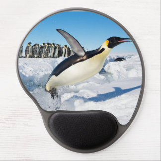 Penguin in Antarctica Jumping Out of the Water Gel Mouse Pad