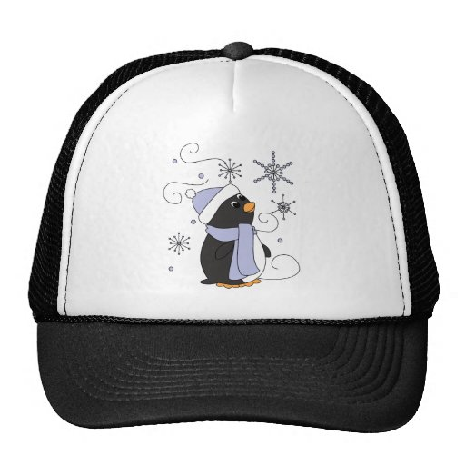 Penguin in Awe Hats