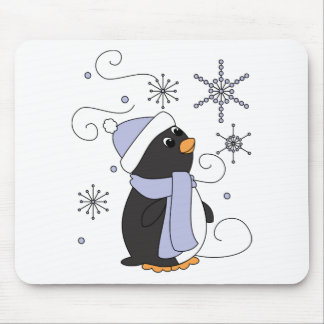 Penguin in Awe Mouse Pads