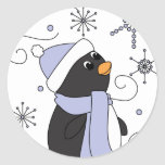 Penguin in Awe Stickers