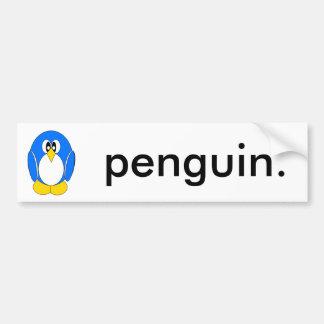 Penguin in Blue Bumper Sticker