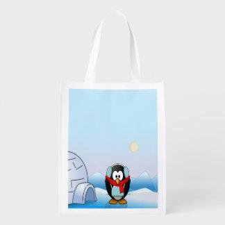Penguin in Earmuffs, Cute Winter & Christmas