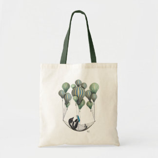 Penguin in Hammock Balloon Budget Tote Bag
