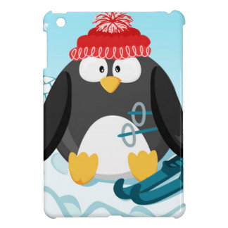 Penguin in January from the circle serie iPad Mini Case
