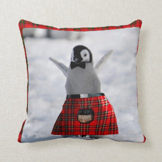 Penguin in Kilt Cushion