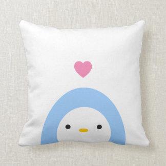 Penguin in Love Throw Pillow