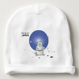 Penguin in Space Baby Beanie