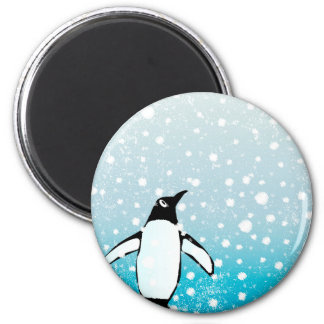 Penguin In The Snow Magnet