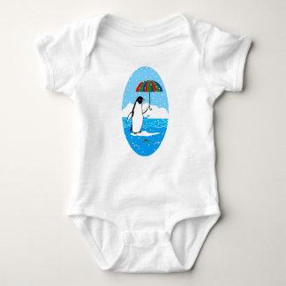 Penguin in the Snow on Baby Jersey Bodysuit