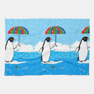 Penguin in the Snow on Kitchen Towel