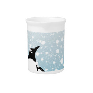 Penguin In The Snow Pitcher