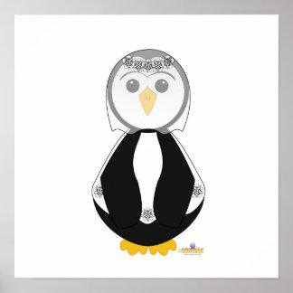 Penguin In Wedding Dress Poster