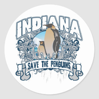 Penguin Indiana Classic Round Sticker