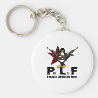 Penguin Liberation Front Basic Round Button Key Ring