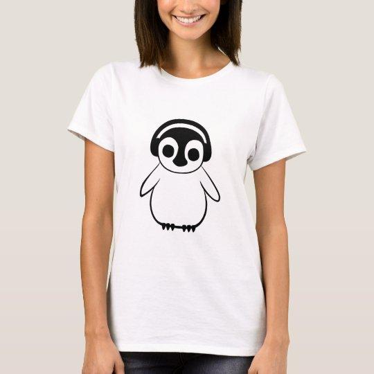 Penguin Listens to Music T-Shirt