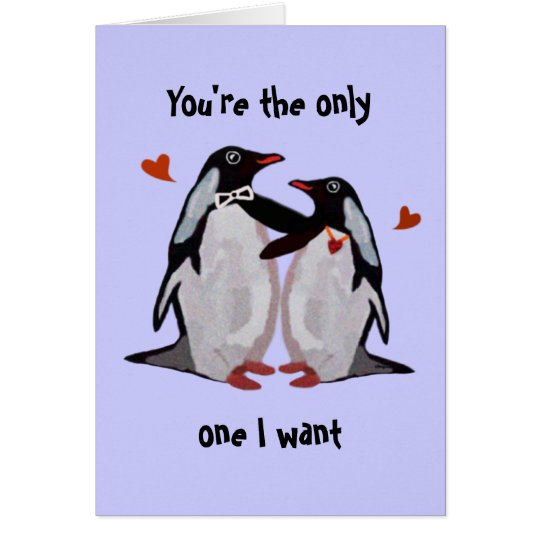 Penguin Love Anniversary Card