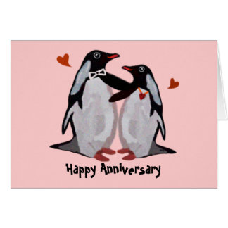 Penguin Love Anniversary Cards