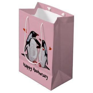 Penguin Love Anniversary Gift Bags Medium Gift Bag